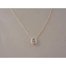 Dámska zlatá retiazka Selebritka kamienky diamantu VR42172Z žlté zlato 14 karátov 585/1000 1,72 g