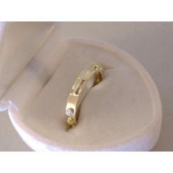 Zlatý dámsky prsteň ruženec zirkóny DP49178Z 14 karátov 585/1000 žlté zlato 1,78 g