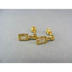 Zlaté náušnice s kamienkom VA260Z