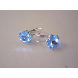 Strieborné naušnice modrý kvet zirkón DAS233 925/1000 2.33 g