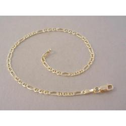Zlatá dámska retiazka vzor Figaro DN18209Z žlté zlato 14 karátov 585/1000 2,09 g