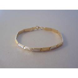 Zlatý dámsky náramok jemný vzor VN19558V viacfarebné zlato 14 karátov 585/1000 5,58 g