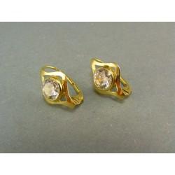 Zlaté náušnice s kamienkom tvar oka VA331Z