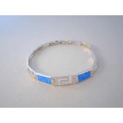Strieborný náramok dámsky modrý opál VNS201173 925/1000 11,73 g