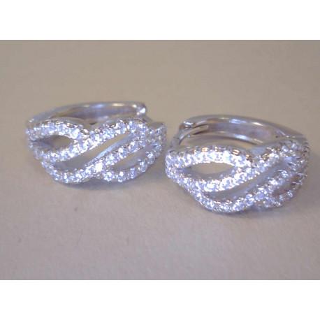 Strieborné dámske naušnice malé kruhy žiarivý zirkón DAS462 925/1000 4,62 g