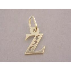 Zlatý dámsky prívesok písmenko Z vyrezávané tvary DI017Z žlté zlato 14 karátov 585/1000 0,17 g