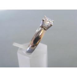 Zlatý dámsky prsteň biele zlato zirkóny VP56349B 14 karátov 585/1000 3,49 g