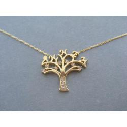 Zlatá dámska retiazka Selebritka Strom života, zirkóny VP43273Z žlté zlato 14 karátov 585/1000 2,73 g