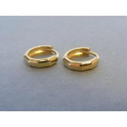 Dámske zlaté zaujímavé naušnice kruhy žlté zlato VA198Z 14 karátov 585/1000 1,98 g