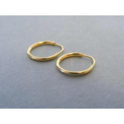 Jednoduché dámske naušnice kruhy VA055Z žlté zlato 14 karátov 585/1000 0,55 g