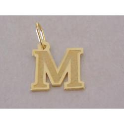 Zlatý prívesok UNISEX písmeno M žlté zlato DI050Z 14 karátov 585/1000 0,50 g
