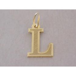 Zlatý prívesok písmenko L DI028Z žlté zlato 14 karátov 585/1000 0,28 g