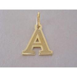 Zlatý prívesok písmeno A UNISEX DI035Z žlté zlato 14 karátov 585/1000 0,35 g