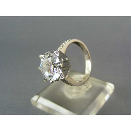 Dámsky zlatý prsteň z bieleho zlata