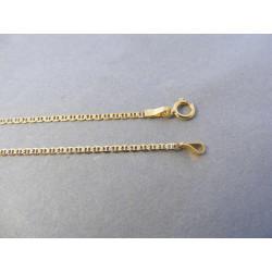 Zaujímavá dámska zlatá retiazka DR45154Z žlté zlato 14 karátov 585/1000 1,54 g
