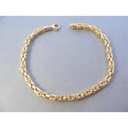 Zlatý pánsky náramok Kráľovksý vzor DN211196Z žlté zlato 14 karátov 585/1000 11,96 g