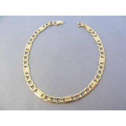 Zlatý pánsky náramok vzor Figaro DN19218Z žlté zlato 14 karátov 585/1000 2,18 g