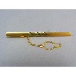 Zlatá kravatová spona zo žltého zlata VSP309Z