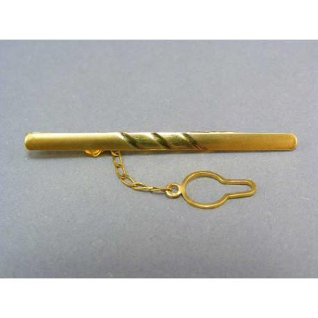 Kravatová spona zo žltého zlata