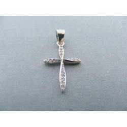 Strieborný dámsky prívesok Kríž zirkóny DIS067 925/1000 0,67 g