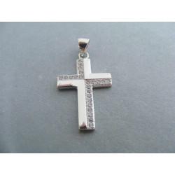 Strieborný prívesok dámsky Kríž číre zirkóny DIS239  925/1000 2,39 g
