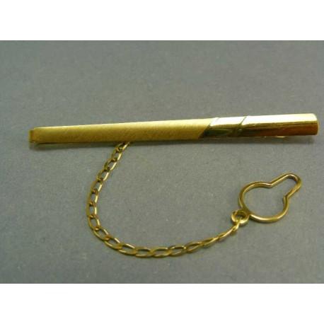 Kravatová spona žlté zlato