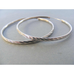 Strieborné dámske naušnice kruhy jemné zárezy DAS613 925/1000 6,13 g