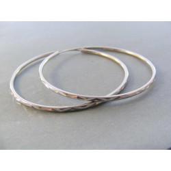 Dámske strieborné kruhové naušnice jemný vzor DAS487 925/1000 4,87 g