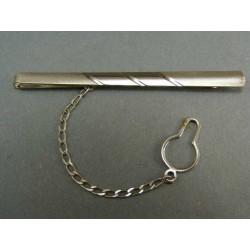 Zlatá kravatová spona z bieleho zlata VSP337B