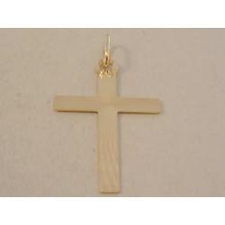 Zlatý prívesok Kríž jemne vzorovaný DI112Z žlté zlato 14 karátov 585/1000 1,12 g
