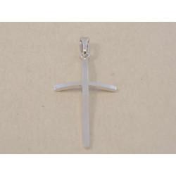 Jemný zlatý dámsky prívesok kríž hladký povrch DI045B biele zlato 14 karátov 585/1000 0,45 g