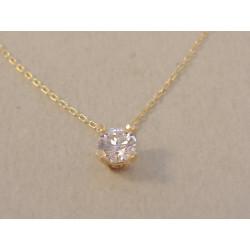Dámska zlatá retiazka Selebritka s žiarivým zirkónom DR44146Z žlté zlato 14 karátov 585/1000 1,46g