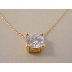 Zlatá dámska retiazka Selebritka žlté zlato zirkón DR42179Z 14 karátov 585/1000 1,79 g