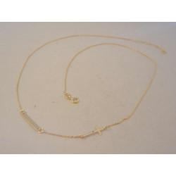 Zlatá retiazka dámska platnička,krížík žlté zlato DR47134Z 14 karátov 585/1000 1,34g