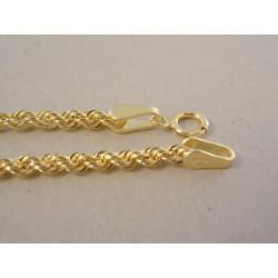 Zlatá dámska retiazka točená žlté zlato DR44219Z 14 karátov 585/1000 2,19 g