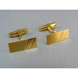 Zlaté manžetové gombíky zo žltého zlata obdĺžnikovy tvar VMG597Z