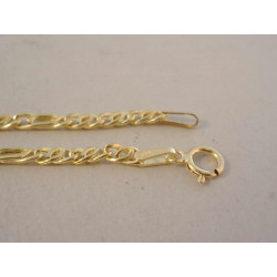 Dámska zlatá retiazka zaujímavé očká žlté zlato DR50316Z 14 karátov 585/1000 3,16 g