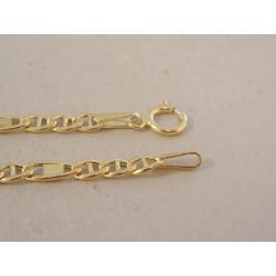 Zlatá pánska retiazka žlté zlato malé a veľké očká DR555368Z 14 karátov 585/1000 3,68 g