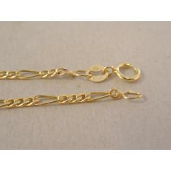 Zlatá pánska retiazka vzor FIGARO DR415112Z žlté zlato 14 karátov 585/1000 1,12 g