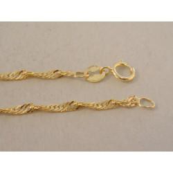 Zlatá dámska retiazka točená DR42175Z žlté zlato 14 karátov 585/1000 1,75 g