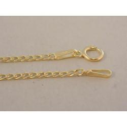 Pánska zlatá retiazka vzor PANCIER DR45108Z žlté zlato 14 ka rátov 585/1000 1,08 g
