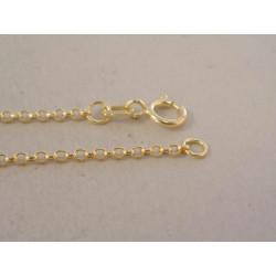 Zlatá dámska retiazka guličkové očká DR50124Z žlté zlato 14 karátov 585/1000 1,24 g