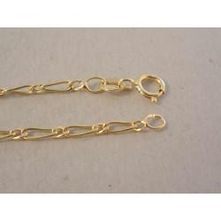 Pánska zlatá retiazka veľké,malé očko striedavo DR46135Z žlté zlato 14 kaqrátov 585/1000 1,35 g