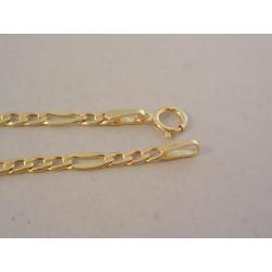 Pekná zlatá pánska retiazka Figaro vzor DR41182Z žlté zlato 14 karátov 585/1000 1,82 g