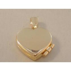 Zlatý prívesok dámsky  otváracie Srdiečko hladký povrch VI190Z žlté zlato 14 karátov 585/1000 1,90 g