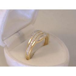 Zlatý dámsky prsteň žlté zlato,zirkóny VP59246Z 14 karátov 585/1000 2,46 g