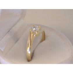 Zlatý dámsky prsteň zirkón v korunke žlté zlato VP57313Z 14 karátov 585/1000 3,13 g