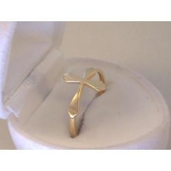 Zlatý dámsky prsteň s krížom žlté zlato VP58140Z 14 karátov 585/1000 1,40 g