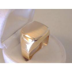 Výrazný zlatý pánsky prsteň VP65518Z žlté zlato 14 karátov 585/1000 5,18 g