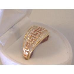Očarujúci dámsky zlatý prsteň viacfarebné zlato zirkóny VP56315V 14 karátov 585/1000 3,15 g